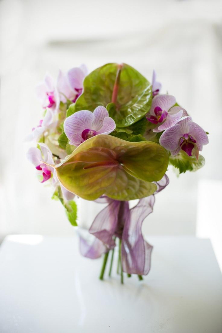 Hydrangea, anthurium, orchid  Wedding bouquet by Pollak cvijece  www.pollakcvijece.com  Photo by Martina Poslovno Hohnjec (Timeless wedding studio)    Vjenčani buket