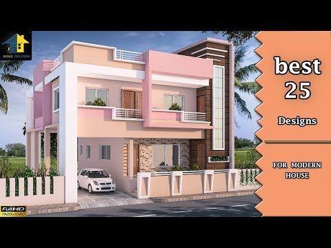 Top 25 Front Elevation Designs For Double Floor Houses 2 Floor House Designs Youtube House Outer Design House Outside Design House Design
