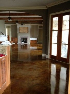 Interior acid stained flooring - traditional - kitchen - new orleans - Dan Lynch Concrete Floors