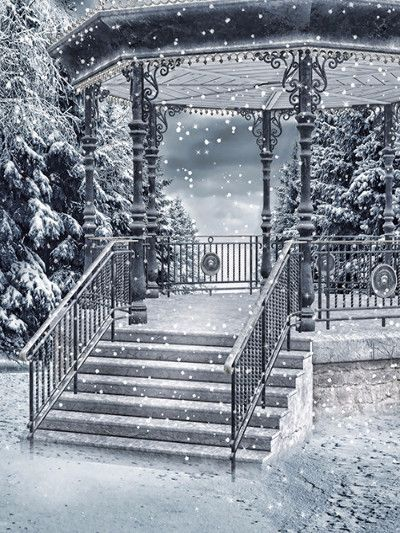 Kate Snow Scenery Snow Pavilion Photography Backdrops