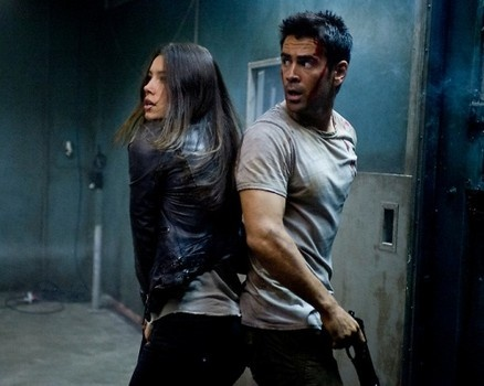 """Colin and Jessica form a winning duo in """"Total Recall."""" http://www.examiner.com/article/slideshow-how-colin-farrell-and-jessica-biel-shaped-up-for-total-recall"""