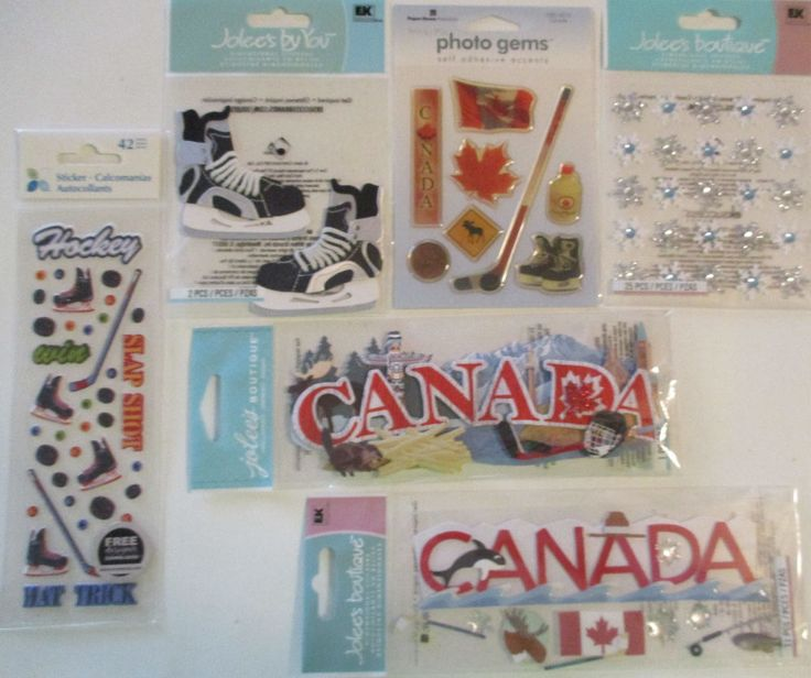 Scrapbooking StickersJolee's Boutique CANADA Hockey Moose Mable Leaf Syrup #JoleesBoutiqueEKSuccess