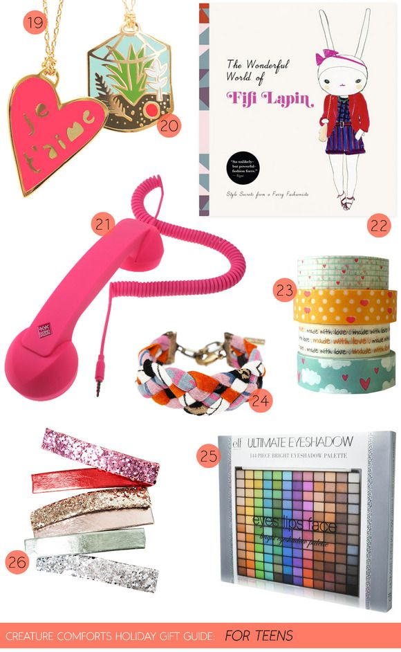 Creature Comforts Holiday Gift Guide: For Teens | Find links for all featured products on Creature Comforts Blog