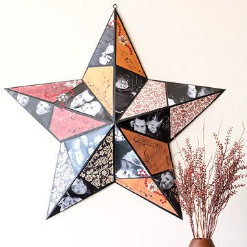 Photo-Covered Star: Photos, Photo Collage, Metal Stars, Gift Ideas, Craft Ideas