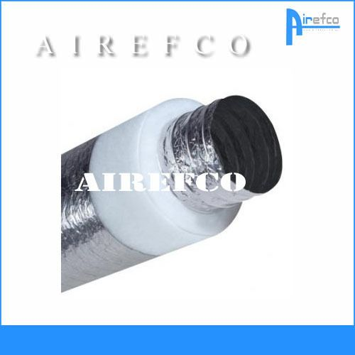 R 1.5 -  8  / 200 mm Flexible insulated Fan Duct -Ducting - Flex
