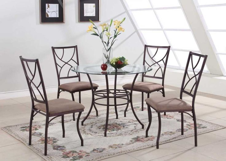 40 inch round glass dining table set with metal leg for 13 piece dining table set