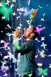 One of my favorite musical memories: Coldplay concert with my son and my two best friends in Mansfield, MA. Chris Martin amongst the paper butterflies!