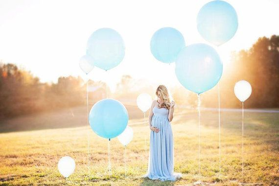 Sheer Maternity gown / Jamie Gown / Maternity Dress/ Multi-layer Chiffon / Ombre…
