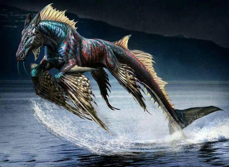 Dans la mythologie grecque, l'hippocampe ou «cheval marin» est une créature fantastique dont la partie antérieure est celle d'un cheval: la tête, l'encolure, les deux jambes antérieures, et la p…