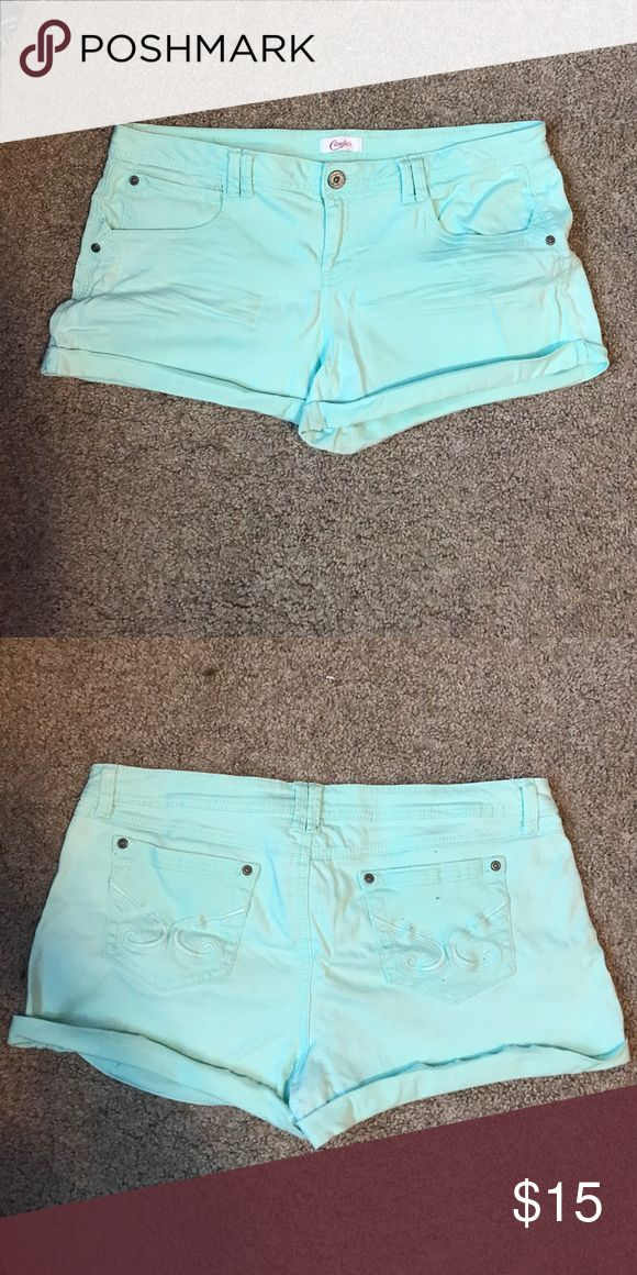 Mint Green Jean Shorts Mint green Jean Shorts excellent condition Candie's Shorts Jean Shorts