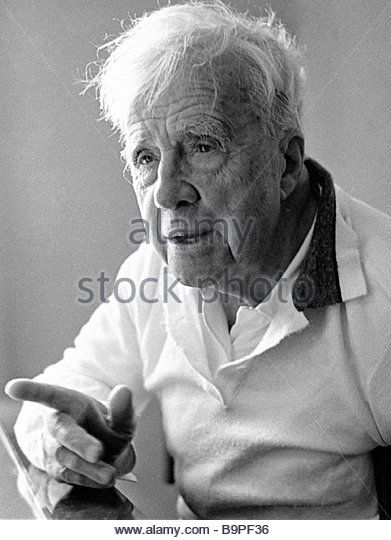 A famous American poet Robert Frost - Stock Image