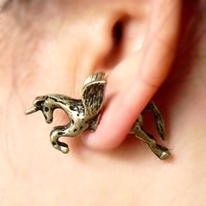 Aliexpress.com : Buy Min.order is $15 Free Shipping Fashion  Popular Vintage Punk Unicorn Dawlish Ppiercing Stud Earring E643 from Reliable ear ball suppliers on  Shanghai  gowin  industry  CO.,LTD. $1.29
