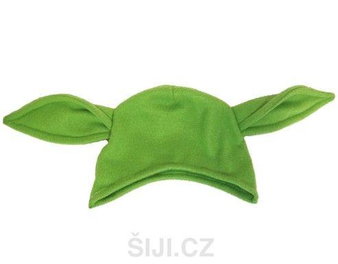 Dětská čepice Yoda | Šiji.cz - ručně šité polštářky, čepice, fusaky