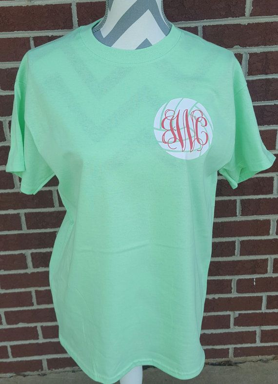Monogrammed Volleyball Short Sleeve Shirt By Elleqdesigns