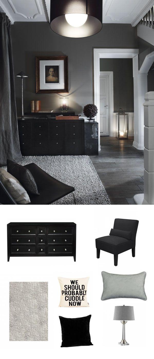 dark and gray living room   #adoredecor #homedecor #interiordesign #decor #design