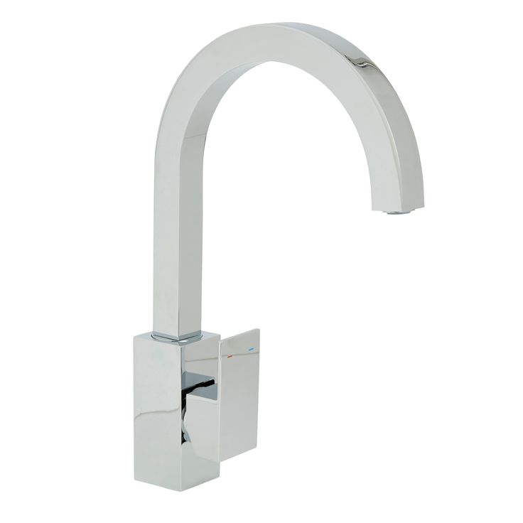 Cooke & Lewis Hannoki Chrome Finish Kitchen Side Lever Tap | Departments | DIY at B&Q