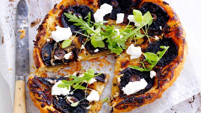 Upside down mushroom tart by Janelle Bloom