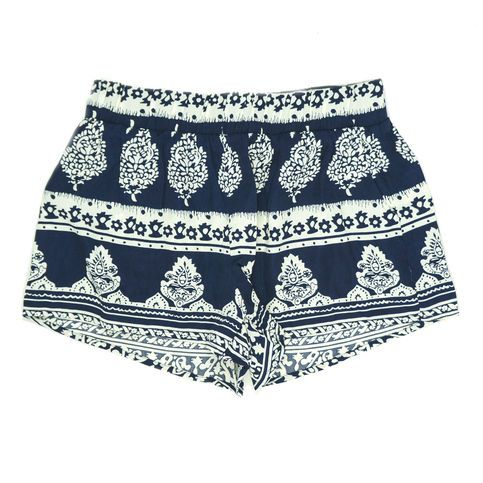 Navy Blue Printed Shorts from Love Street