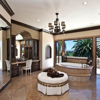 Love The Dark Crown Molding Bathroom Remodel Ideas