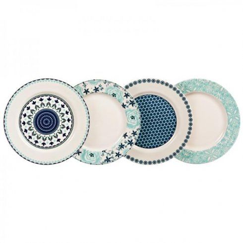 Denby Monsoon Assorted Antalya Plate Gift Set