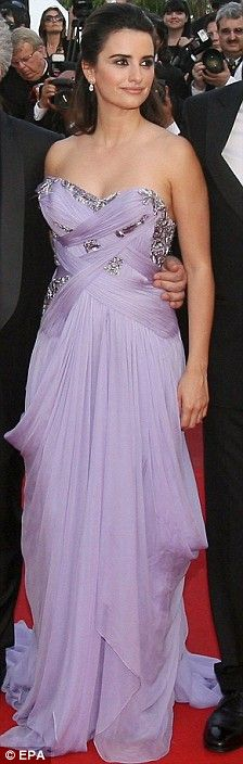 Penelope Cruz in Marchesa at the 2009 Cannes Film Festival