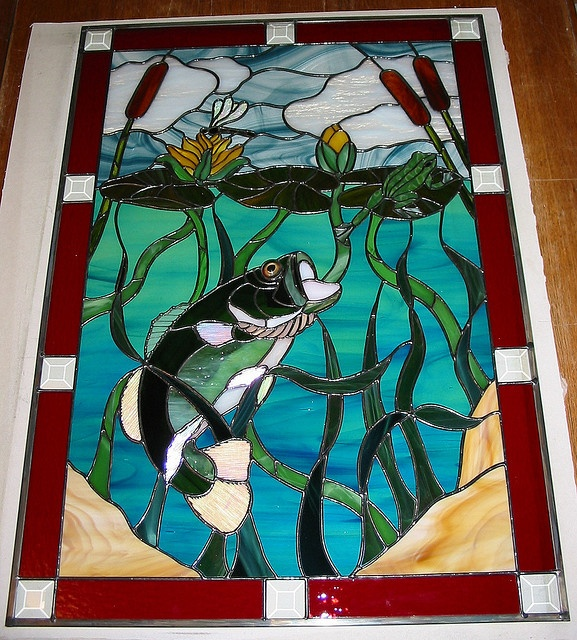 1000 images about stained glass fish ocean on for Stained glass fish patterns