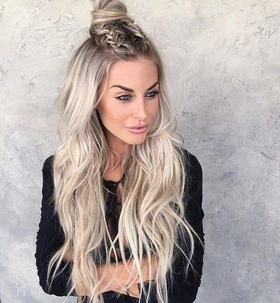плетениеволос#hair#стильно #покраска#блонд#легкийзавиток#пучок#балаяж##brown #blonde