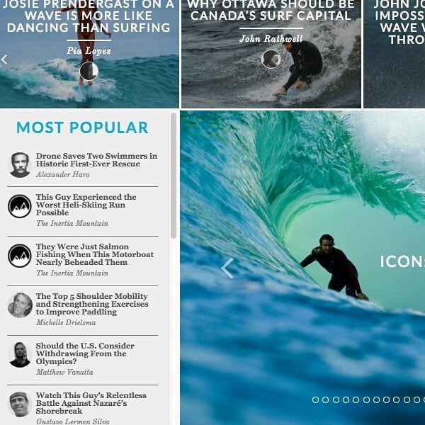 Good to see my Top 5 Shoulder Mobility and Strength Exercises to Improve Paddling receiving some love on @theinertia - currently listed under the most popular posts. Head to their homepage today to see it ✌
