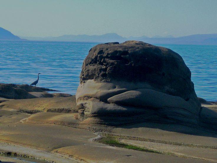 Gabriola Rocks, with Crane