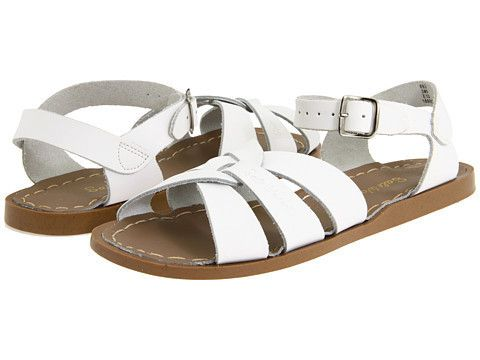 Salt Water Sandals: Original Sandal (White) Hoy's Salt Water Classic style sandal has been a favorite for years. Children look great whether dressing up or down in these traditional water friendly designs. Salt Water Sandals are classic, durable, fashionable and remain a summertime staple. They will continue to stand the test of time for years to come.