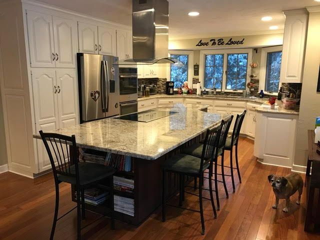 Extending Your Kitchen Island Countertop With Heavy Duty Hidden