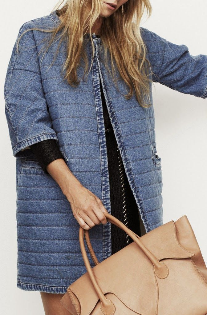 quilted denim