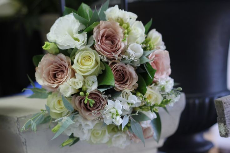 Pink and white rose bouquet http://www.wanakaweddingflowers.co.nz/gallery/bouquets/
