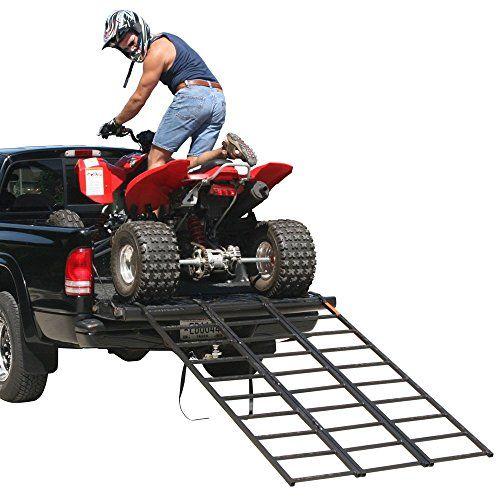 "74"" Portable Steel Tri-Fold ATV Loading Ramp - http://www.caraccessoriesonlinemarket.com/74-portable-steel-tri-fold-atv-loading-ramp/  #Loading, #Portable, #Ramp, #Steel, #TriFold #ATV"