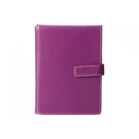 """BNWT Passport Wallet- Lodis from Mori Luggage Co Audrey passport wallet with ticket flap.Quite simply,chic,timeless beauty,refined & elegant.Audrey features smooth grain leather, contrasting Trim & interiors.This sleek passport will keep all your travel documents in one place-with space for your boarding pass, passport, ID &credit cards.Pretty two-tone fuchsia.Product details: 4 credit card slots, outside snap closure.Height: 5.75"""". Width 4.25"""". Additional information:SKU: 148784; style…"""