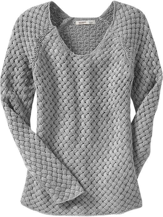 Old Navy Women's Basket Weave Sweaters