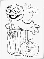 182 best images about coloring pages on pinterest barbie for Sesame street halloween coloring pages