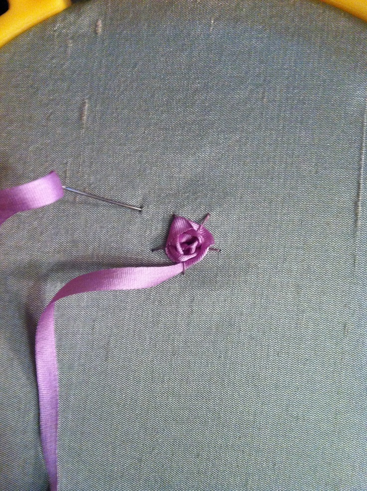 Best silk ribbon spider rose video etc images on