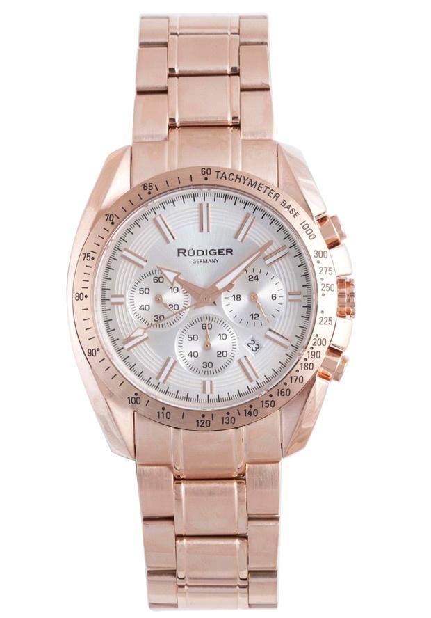 Price:$336.56 #watches Rudiger R1000-09-001, Rudiger Dresden Men's chronograph Round Silver Watch