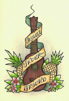 Image result for ukulele tattoo