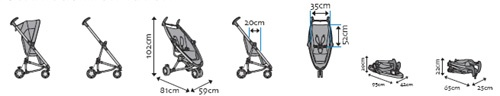 Quinny Zapp Xtra Silver Buggy (Rocking Black) from Quinny part of the Three Wheeler Joggers range available at PreciousLittleOne
