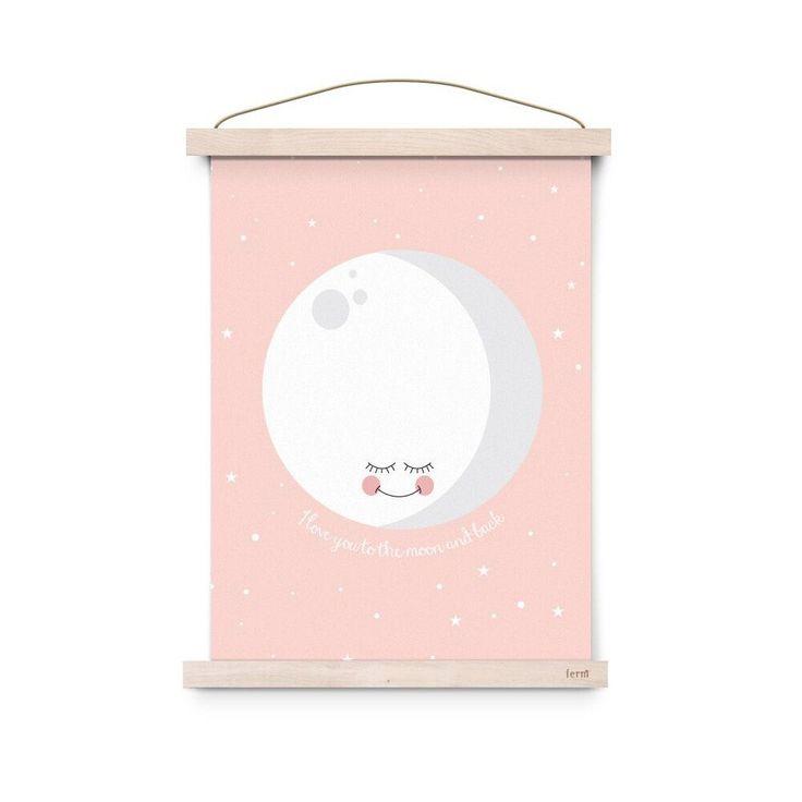 Eef Lillemor Plakát Moon Pink