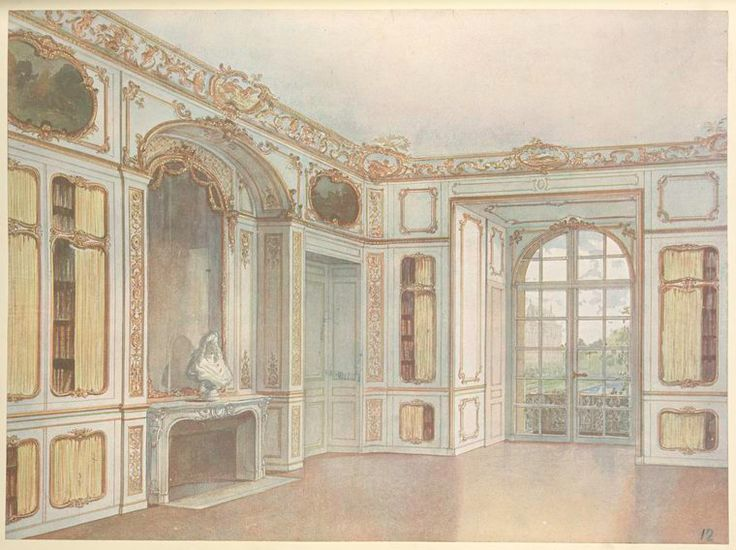 Bibliothéque du roi a Versailles.... From New York Public Library Digital Collections.