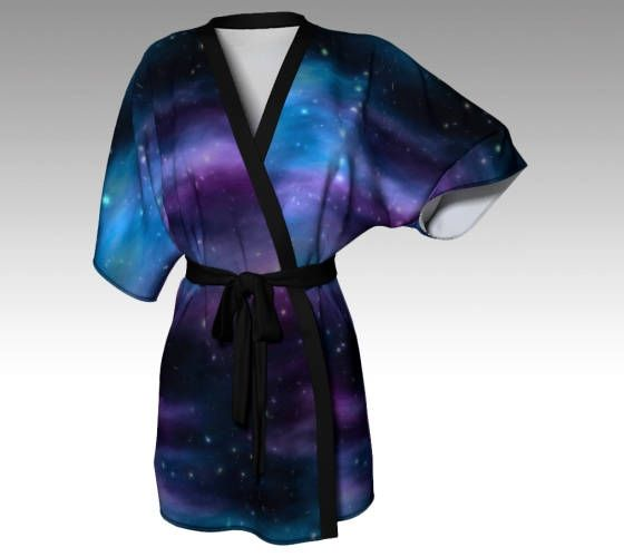 Galaxy Robe, Space Robe, Galaxy Kimono, Kimono Robe, Dressing Gown, Beach Coverup, Bridesmaid Robe, Loungewear, Swimsuit Coverup, Women Gift by LaineyDesigns on Etsy