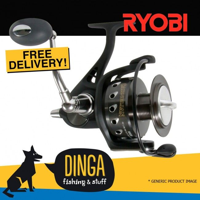Get Ryobi Carnelian Heavy Duty Spinning #Fishing #Reel Series at Best prices in Australia provided by Dinga Fishing Tackle Shop!