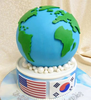 Best Around The World In  Cakes Images On Pinterest Cakes - World birthday cake