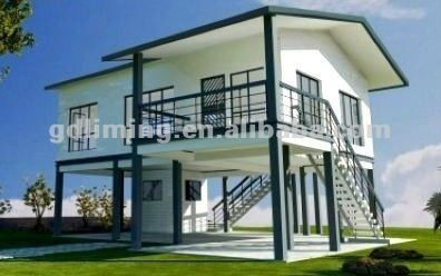 Economic and easy to install modular house Villa Prefabricated House, Cheap prefabricated houses $140~$220