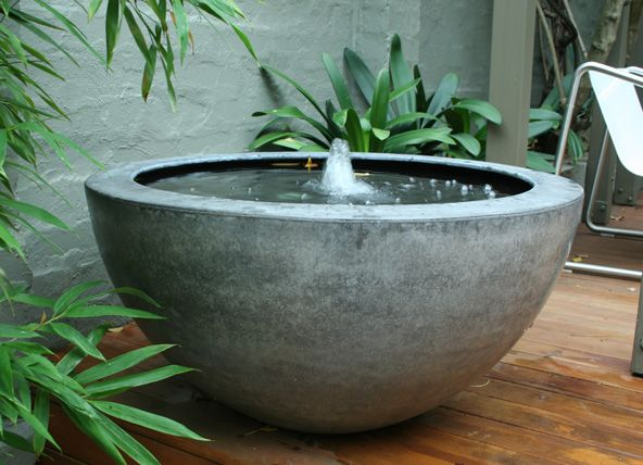 light weight concrete water feature