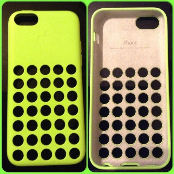 Lime Green IPhone 5C phone case FIRM PRICE   IPhone 5C cell phone case used for a few months bought a new case & have not used it since. Has a little wear on it but overall condition is still good. FIRM PRICE GOD BLESS  Apple iphone Accessories Phone Cases