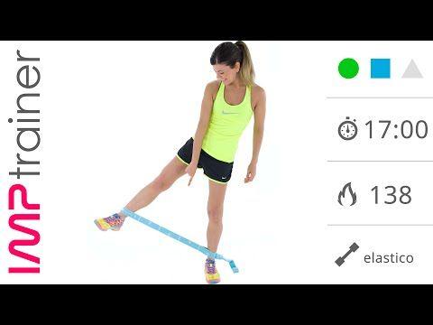 Snellire e Rassodare l'Interno Coscia: Esercizi con Elastico - YouTube